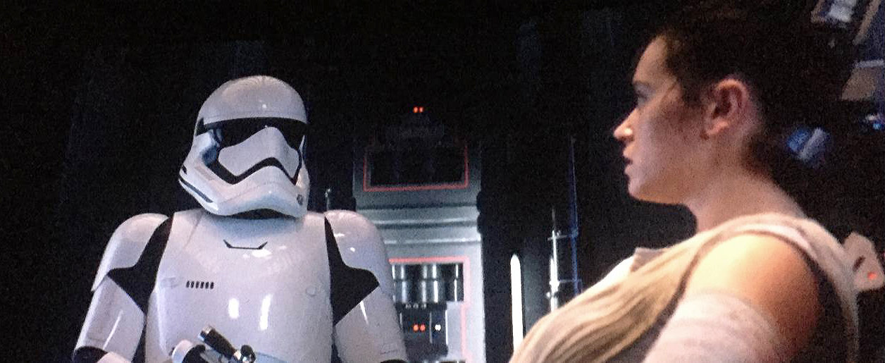 The Force Awakens Still - Rey Pulls the Jedi Mind Trick on a Stormtrooper